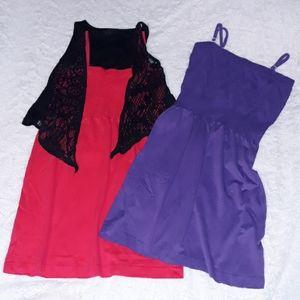 2 Dresses Pink & Purple